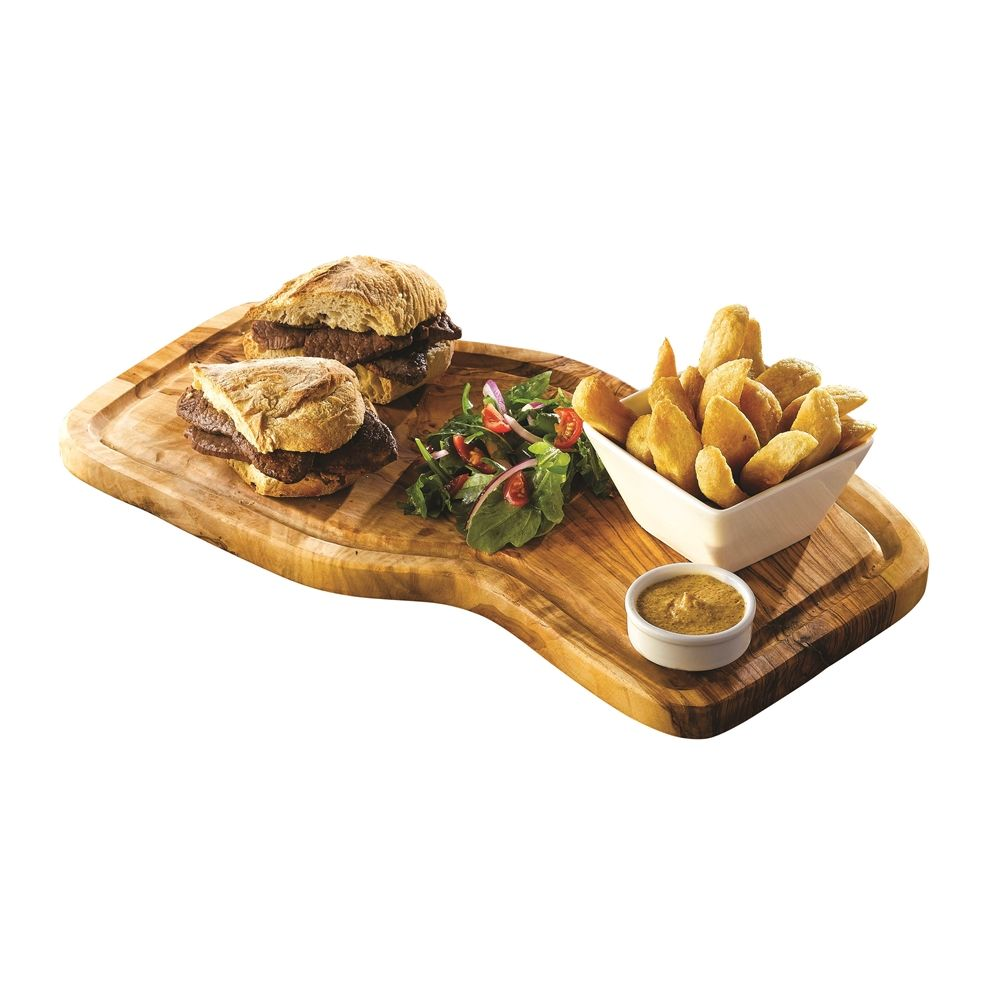 Wooden Serving Board With Groove 40cm+/-